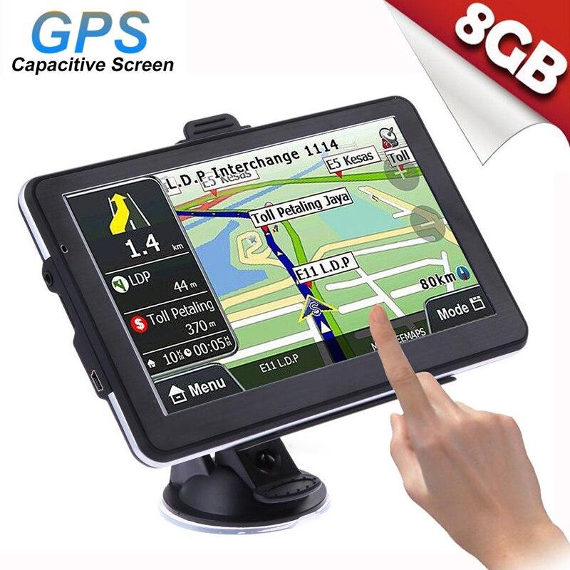 7 pouces voiture GPS Navigation écran tactile 800*480 USB intégré polymère batterie au Lithium voiture GPS Navigation voiture électronique