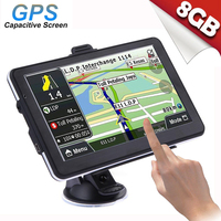 Sensitive Touchable Car GPS 7 Inches 800*480 32GB TF USB Car GPS Navigation Built In Polymer Lithium Battery With Vehicle GPS