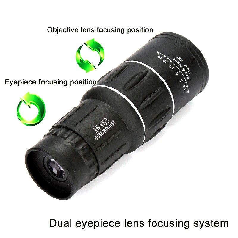 High Power HD Monocular Telescope 16X52 Sniper Binoculars Tourism Spyglass LLL Night Vision For Camping Hunting Child Gift 3