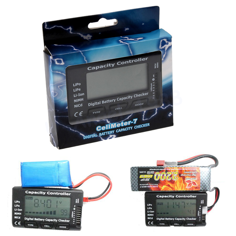 Hot Sale Digital Battery Capacity Checker RC CellMeter 7 For LiPo LiFe Li-ion NiMH Nicd Wholesale