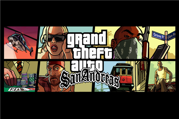 Custom Canvas Art Game Wallpaper GTA 5 San Andreas Mural Gaming Poster Grand Theft Auto  ...
