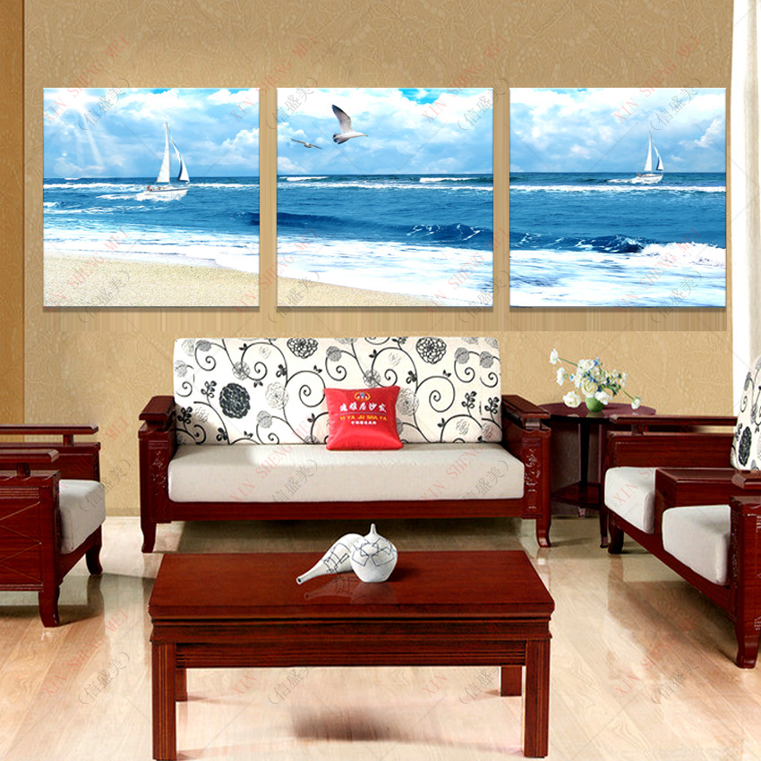 Large Wall Pictures For Living Room: Modern Oil Paintings Large Wall Decorative Pictures