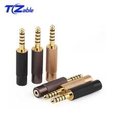 Высококачественный аудиоразъем 4,4 мм, штекер 2,5 мм, штекер с золотым покрытием, адаптер с 5 полюсами, разъем для наушников AUX, Балансирующий разъем для наушников, разъем для YS 627