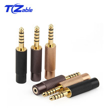 High Quality Audio Plug Jack 4.4mm Male To 2.5mm Female Gold Plating Plug 5 Poles Adapter AUX headphone Balance Connector YS 627