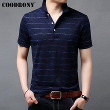 COODRONY Brand Soft Cotton T Shirt Men Striped Short Sleeve T-Shirt Men Summer Streetwear Business Casual Men's T-Shirts S95057 долли партон линда ронстадт эммилу харрис dolly parton linda ronstadt emmylou harris trio