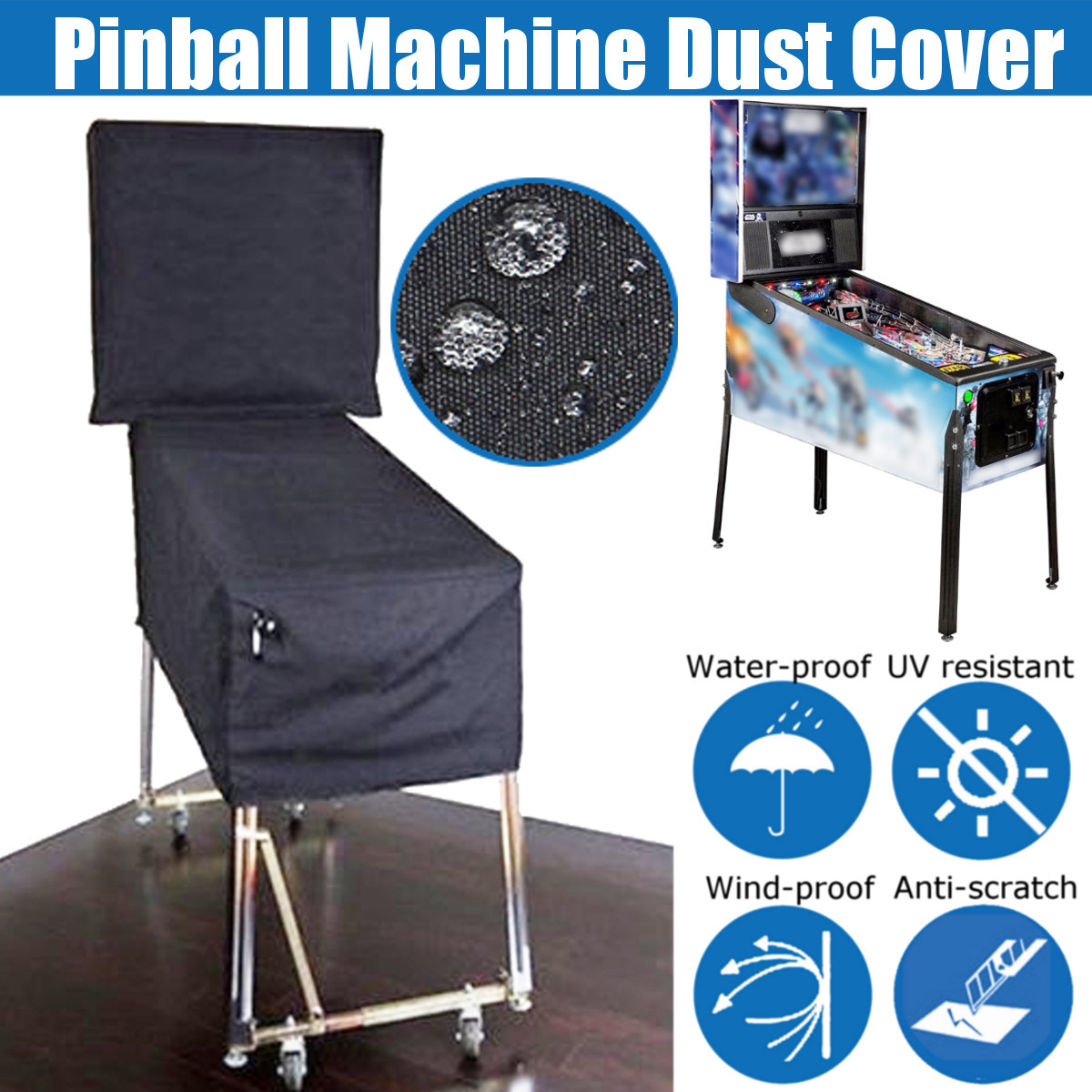 Pinball Machine Cover Dustproof Waterproof Anti UV Outdoor For Wedgehead Gottlieb 80Bally Widebody 90/70/80s Pinball Parts