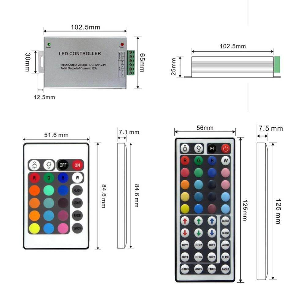 Led Controller 24/44 ստեղներ LED IR RGB Controler IR Remote - Լուսավորության պարագաներ - Լուսանկար 4