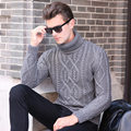 2017 New Arrival Pullover Men Round Neck Casual Brand Thicken Turtleneck Men Sweater Cotton Slim Fit Pull Homme Sweater Men