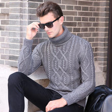 2017 New Arrival Pullover font b Men b font Round Neck Casual Brand Thicken Turtleneck font