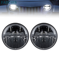 FADUIES 7 Inch Round LED Headlights High Low Beam For Jeep Wrangler JK TJ 97 2017