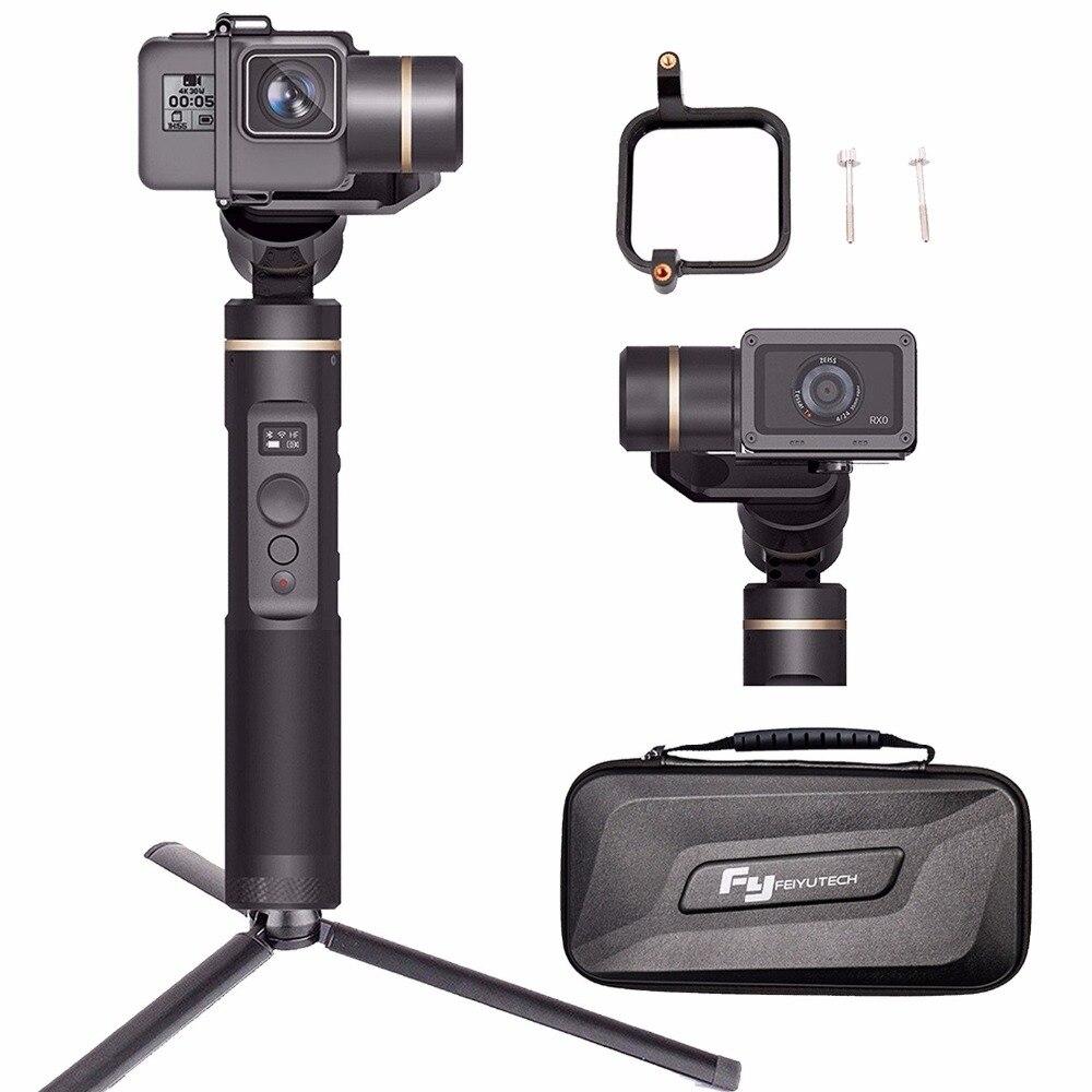 FeiyuTech Feiyu G6 cardan Wifi + bluetooth OLED écran Angle d'élévation pour Gopro Hero 7 6 5 4 Session, Sony RX0, Yi Cam 4K