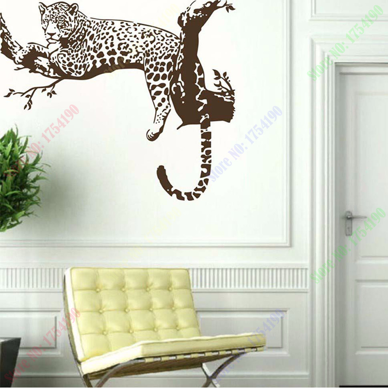 On sale new large leopard tiger tree removable vinyl wall for Home decor items on sale