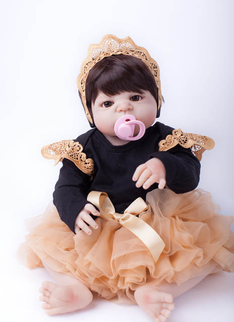 Online Shop 55cm Full Body Silicone Reborn Baby Doll Toys Lifelike