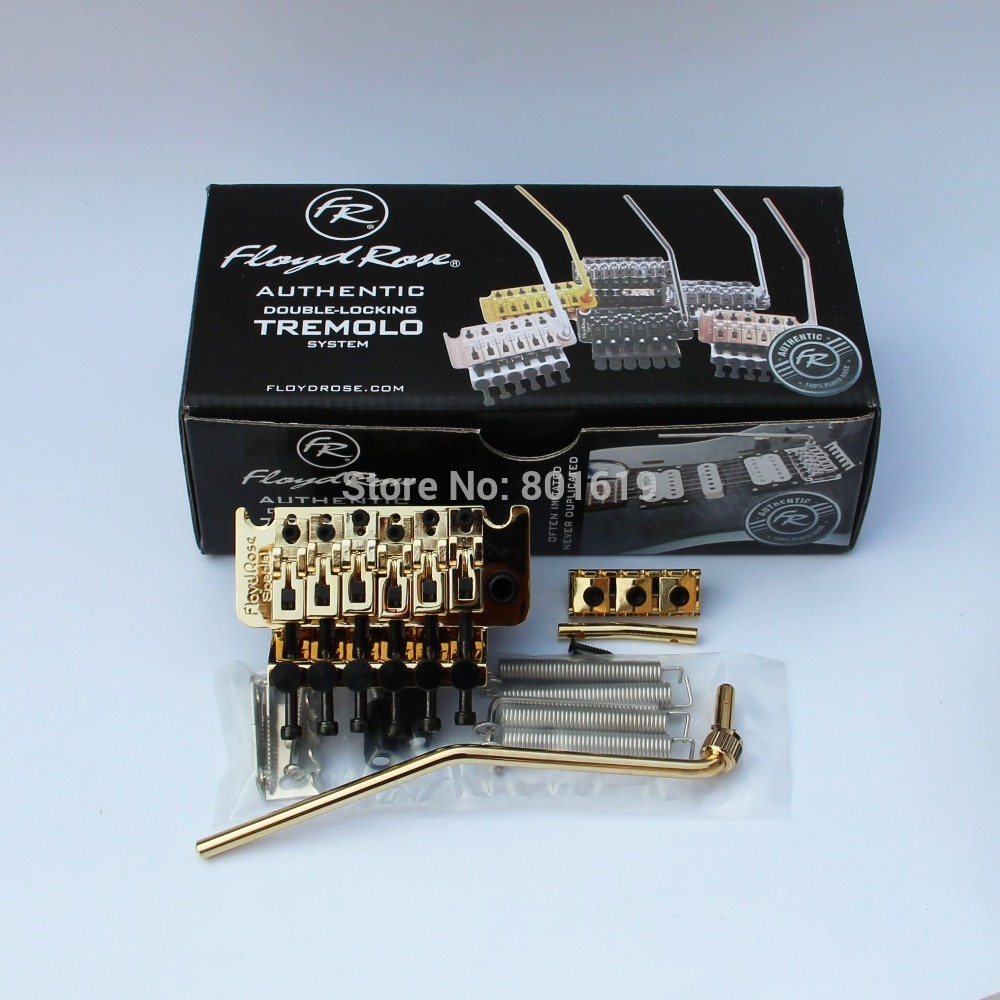 FLOYD ROSE SPECIAL Double Locking Tremolo Kit with R2 Nut, golden Guitar Bridge floyd rose electric guitar bridge tremolo bridge locking system gold chrome black free shipping