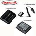 FNB-80LI LITHIUM Battery Pack + FBA-23 Battery Case + VX-7R Charger For Two Way Radio VX-5R VX-6R VX-7R VX-6E Walkie Talkie
