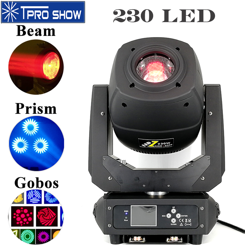 230W Beam Moving Head 3 In 1 LED Wash Spot Beam Lyre Prism Linear Zoom Stage Lights Professional Illumination Club Dj Equipment