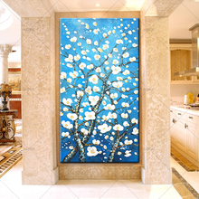 New Arrival Abstract Hand Painted Flower Oil Paintings On Canvas Modern Bed Room Living Wall Art Pictures Home Decor