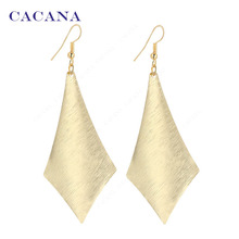 CACANA  Dangle Long Earrings For Women Simple One Rhombus Top Quality Bijouterie Hot Sale No.A383 A384