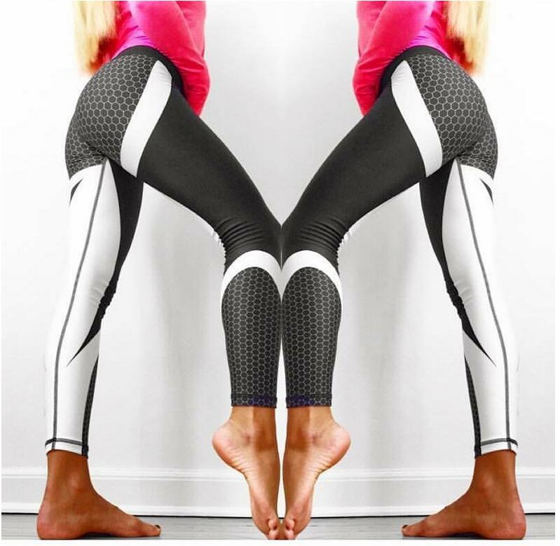 8 colors New Fitness Sport leggings Women Mesh Print High Waist Legins Femme Girls Workout Yoga Pants Push Up Elastic Slim Pants 21