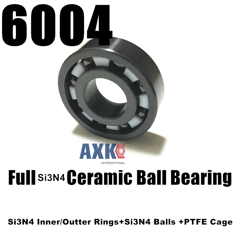 20x42x12mm Full Ceramic bearing 6004 ceramic  SI3N4 Ball bearing 20mm bearings 6004 full ceramic si3n4 20mmx42mmx12mm full si3n4 ceramic ball bearing