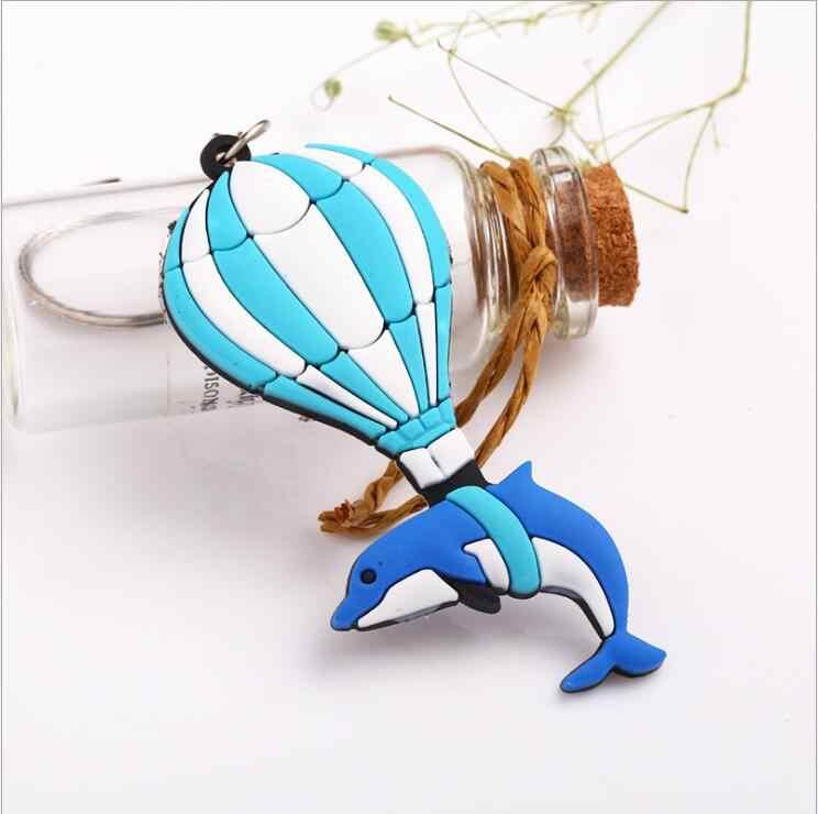 1 ชิ้นน่ารักการ์ตูนซิลิโคน Dolphin อาหารสุนัขเบอร์เกอร์ Key กระเป๋าเด็กจี้ Keychains Key Holder Party ของขวัญ