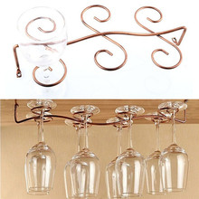 New 1PC 6/8 Wine Glass Rack Stemware Hanging Under Cabinet Holder Bar Kitchen Screws(China)