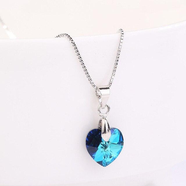 MS Betti 2018 Mignon Mini Xilion coeur pendentif collier avec cristal de Swarovski  bijoux pour filles