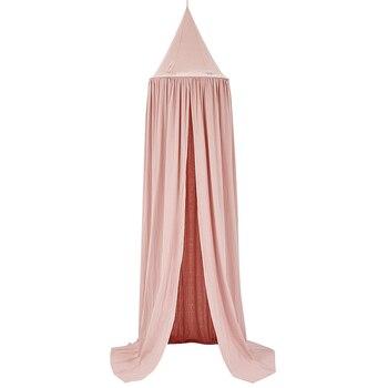 Детская кровать сетка детская комната занавеса украшение кроватка сетка детская палатка хлопок висящий купол детская москитная сетка рекв...