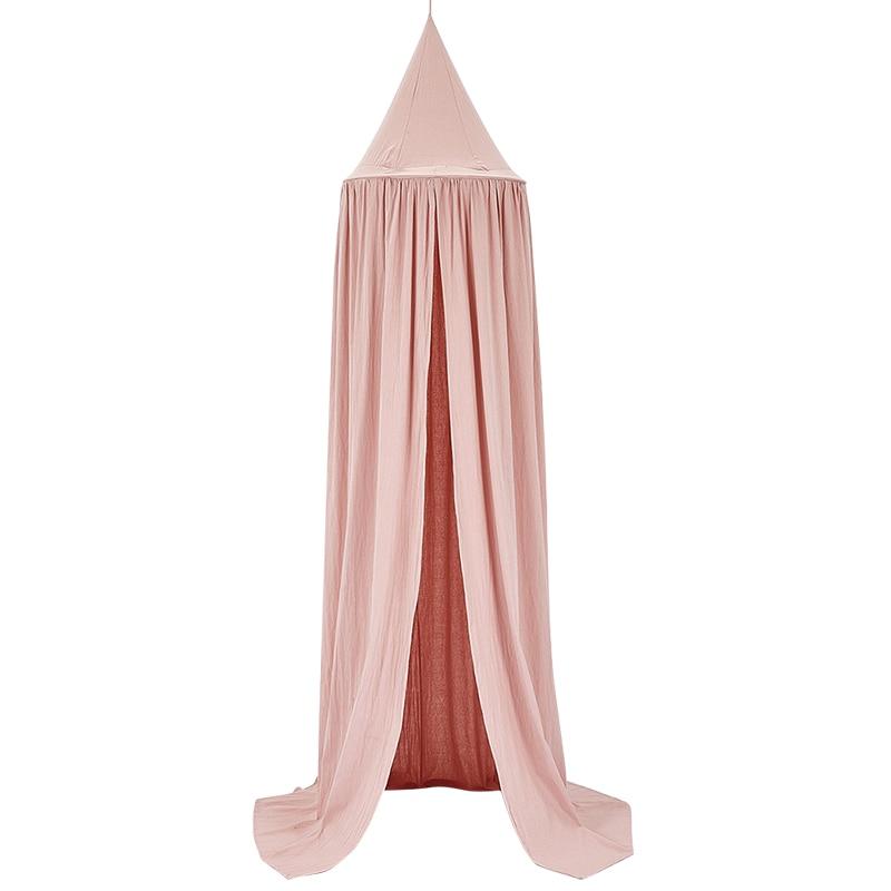 Baby bed Netting gordijn Kinderkamer decoratie Crib Verrekening baby Tent Katoen Opgehangen Koepel kindje Klamboe fotografie props