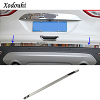 For Ford Kuga 2013 2014 2015 2016 car styling Stainless steel Rear tail door bottom tailgate Trunk Lid Tail Gate trim 1pcs