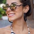 Mais nova Tendência Retro Grife Metade Quadro Óculos De Sol De Luxo Personalidade Bonito Dos Homens Das Mulheres Óculos De Sol UV400 Oculos de grau