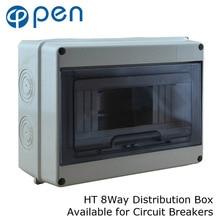 все цены на HT Series 8Way IP66 Waterproof and Moistureproof Distribution Box for Circuit Breakers Indoor on the Wall онлайн