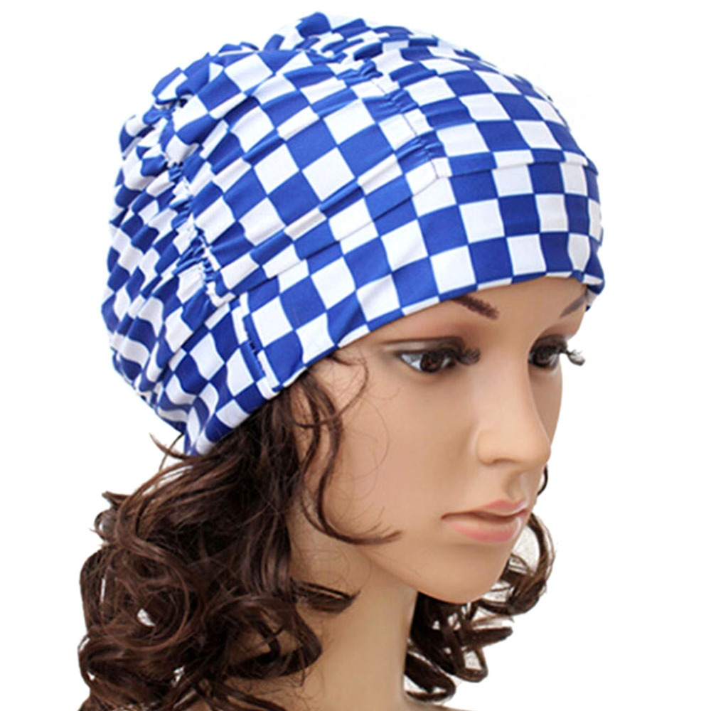 Screaming Retail Price Sexy Women Girls Long Hair Swim Cap Stretch Hat Drape Bathing Swimming Cap