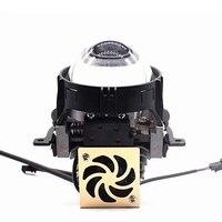 2pcs 72W 4000LM 5500K Bi LED Projector Lens Headlight Hi/Low Beam Projector Lens LED For Car light Retrofit Kits
