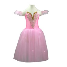 Child Romantic Professional Ballet Tutu Party Costume Modern Dance Fairy Long Tulle Dress Show Girl Mujer Kid