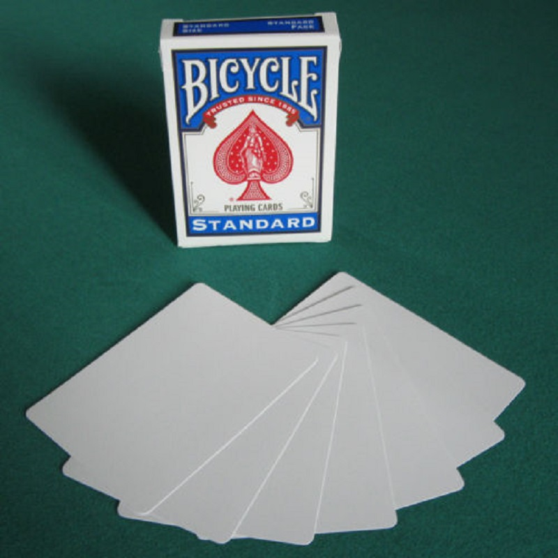 1 Deck Bicycle Double Blank Playing Cards Gaff Magic Cards Poker Special Props Close Up Stage