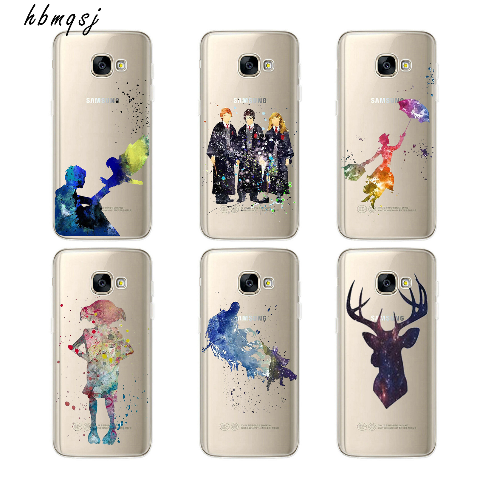 Cartoon Harry Potter Magic Movie for samsung galaxy a320 a3 case 2017 silicone soft tpu transparent art painting phone cover