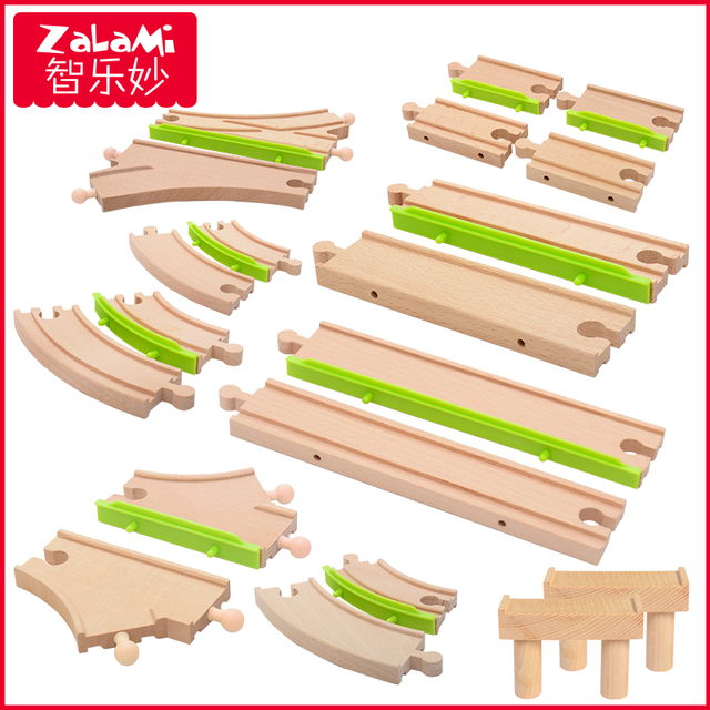 Wooden Train Track Accessories Fit For Thomas And Friends Railway Original Toy Kids Gifts