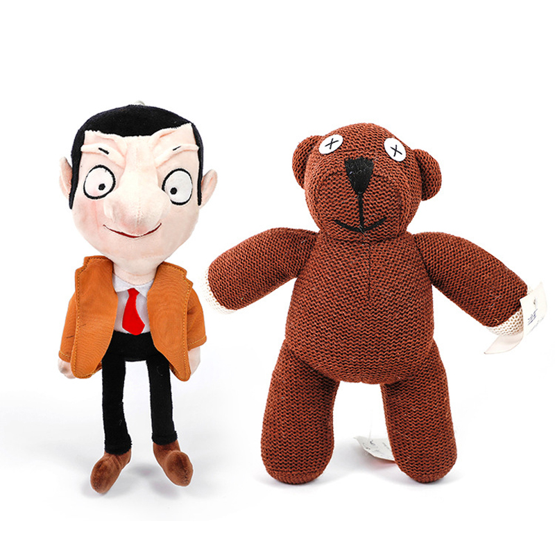 2 teile/los Kawaii Mr Bean Teddybär Plüsch Nette Stofftier Mr. bean Spielzeug Geschenk für Kinder Kinder Weihnachten Geschenke image