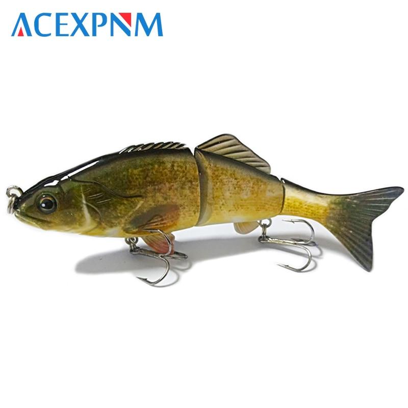 Multi Jointed Fishing Lure Hard Bait Life-like Segment Swimbait Bass Crankbait