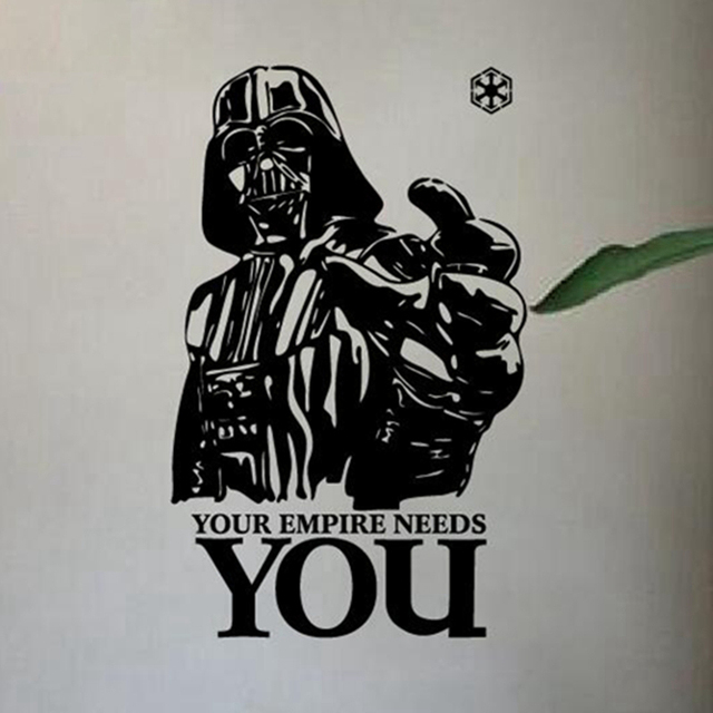 Star Wars Vinyl Wall Decals , Home Decoration Star Wars Wall Stickers    Your Empire Needs