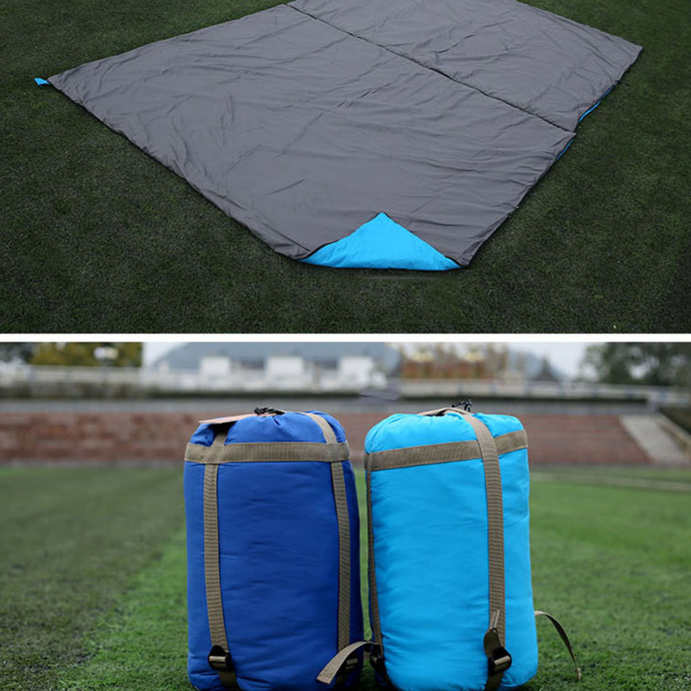 190x145cm Outdoor Nylon Waterproof Camping Sleeping Bag Envelopes Single/Double Person Sleeping Bag for Hiking Picnic Mattress outdoor portable insulated cooler picnic bag 4 person travelset with tableware lunch bag wine bag handle bag for camping hiking