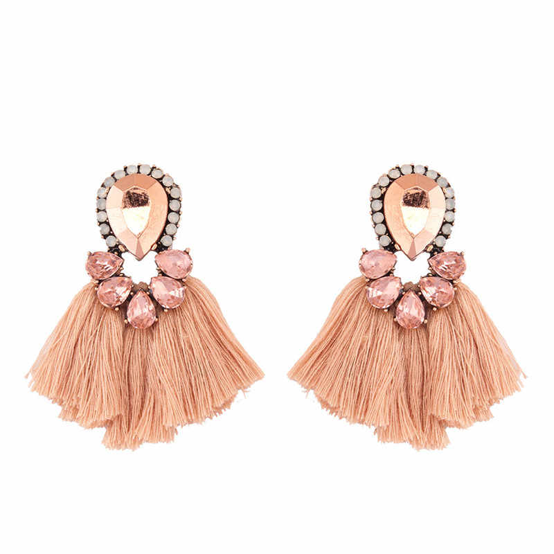 Crystal Short Female Tassel Earrings 2018 New Arrival oorbellen voor vrouwen Fashion Jewelry brinco statement earrings 3B1029
