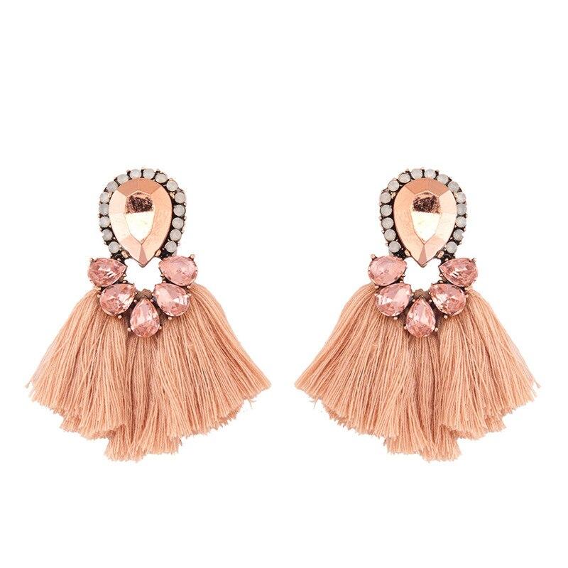 Crystal Short Female Tassel Earrings 2018 New Arrival oorbellen voor vrouwen Fashion Jewelry brinco statement earrings 3B1029(China)