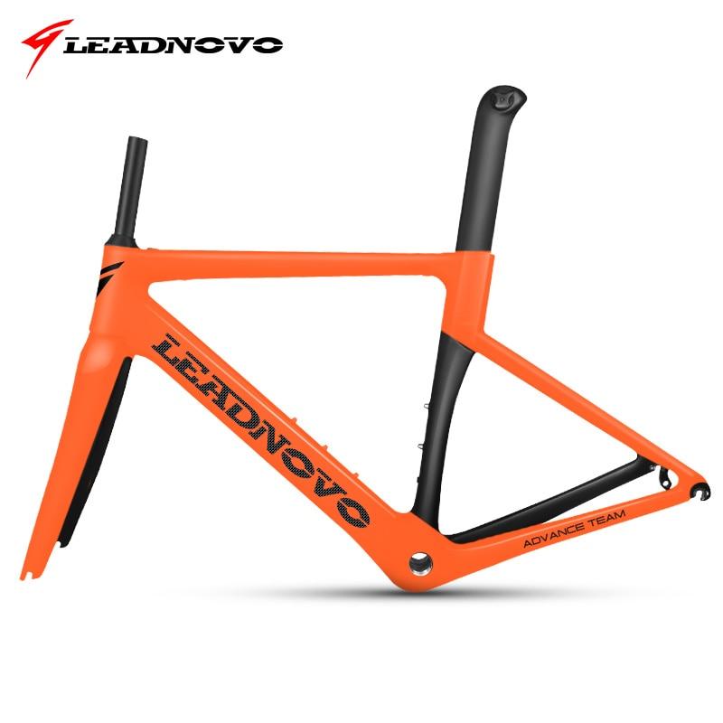 2018 NOUVELLE fiber de carbone route cadre Di2 & Mécanique vélo de course carbone route cadre + fourche + tige de selle + casque carbone vélo de route LEADNOVO