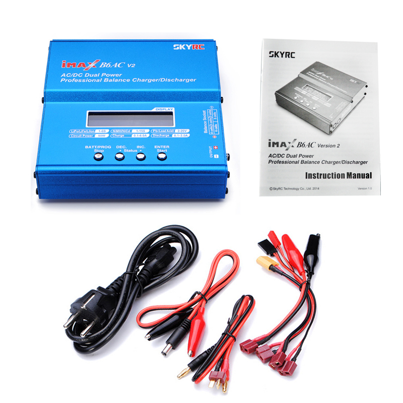 SKYRC iMAX B6AC V2 6A 50W AC DC Lipo NiMH Pb Balance Charger Discharger with Adapter