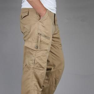 Image 4 - ICPANS 2019 Tactical Pants Men Military Army Black Cotton ix9 Zipper Streetwear Autumn Overalls Cargo Pants Men military style
