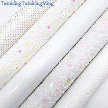 Белый блестящий холщовый лист 8x11 дюймов, блестящий лист с золотыми точками, личи, искусственная кожа, лист для волос, банта и серёг, ткань XM075