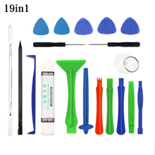 19 in 1 Mobile Phone Repair Tools Kit Spudger Pry Opening Tool Screwdriver Set for iPhone iPad Samsung Cell Phone Hand Tools Set 9 in 1 cell phone screen opening pry mobile phone repair tool kit screwdriver tool set for iphone samsung hand tools opening set