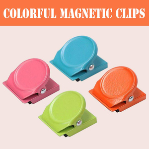 4pcs 3cm Multifunctional Paper white board Creative Magnetic Clip Magnet Memo Note Message Holder colorful Metal Clamp